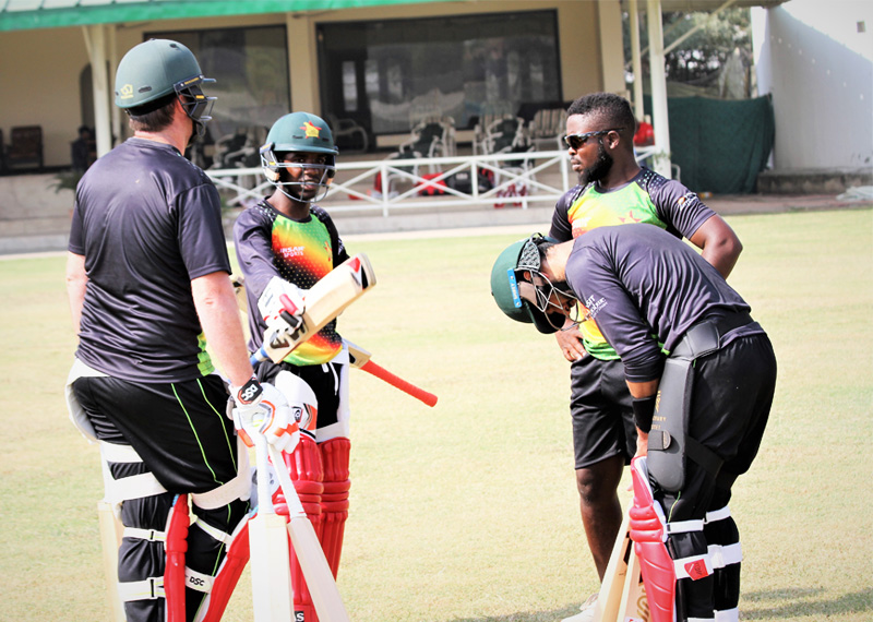 Zimbabwe hold first practice session in Pakistan