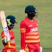 Chakabva reached his fifty off 47 balls, with a remarkable slash over point for six, off the bowling of Shoriful.