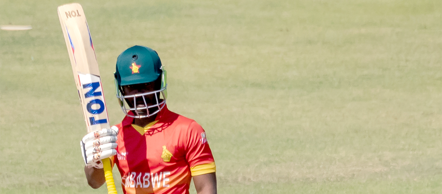 Chakabva reached his fifty, which came off 62 balls