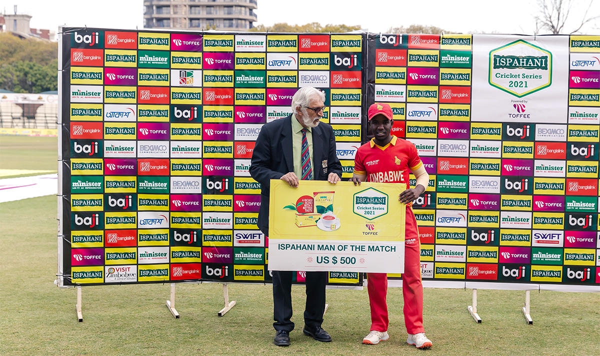 Madhevere was voted Player of the Match for his knock of 73