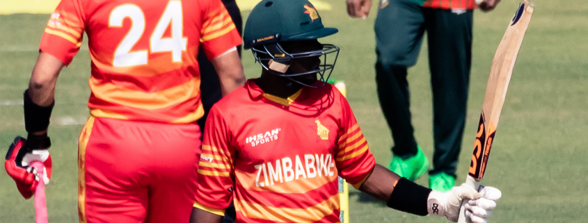 Madhevere played some brilliant strokes, hitting two successive fours off Taskin and then a perfectly executed six over long-off from Afif.