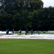 Just when Zimbabwe were about to come out to bat, there was a heavy downfall of rain.