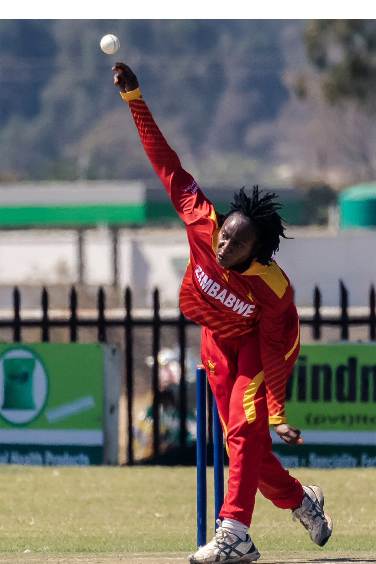 The first four wickets were all trapped lbw by Mbofana, who went on to finish with figures of six for 11 off her four overs.