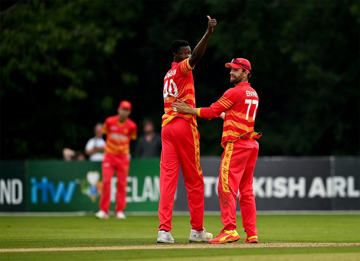 Muzarabani's fine opening spell was only rewarded late in the innings, when he crushed the Ireland run chase and finished with four wickets for 29 runs.